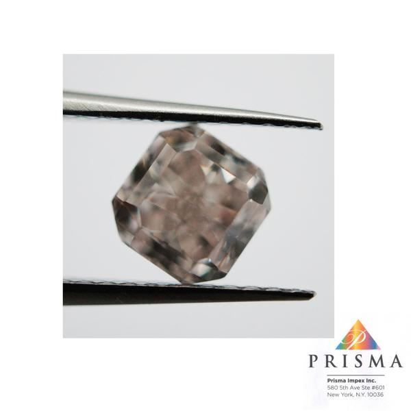 View 1.02 ct. Radiant FANCY BROWNISH PINK