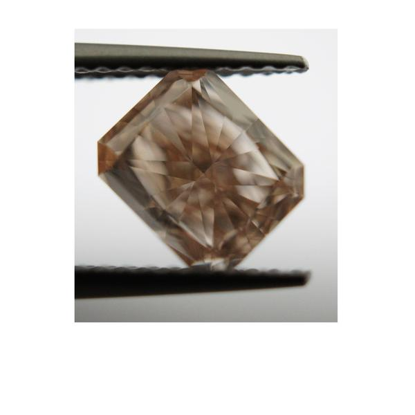 View 1.63 ct. Radiant FANCY BROWN PINK